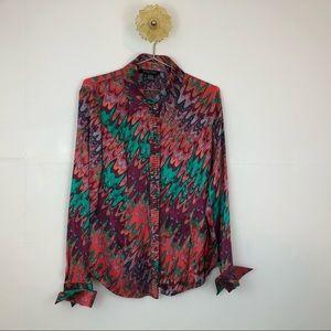 Vintage silk Etcetera Button Down Blouse